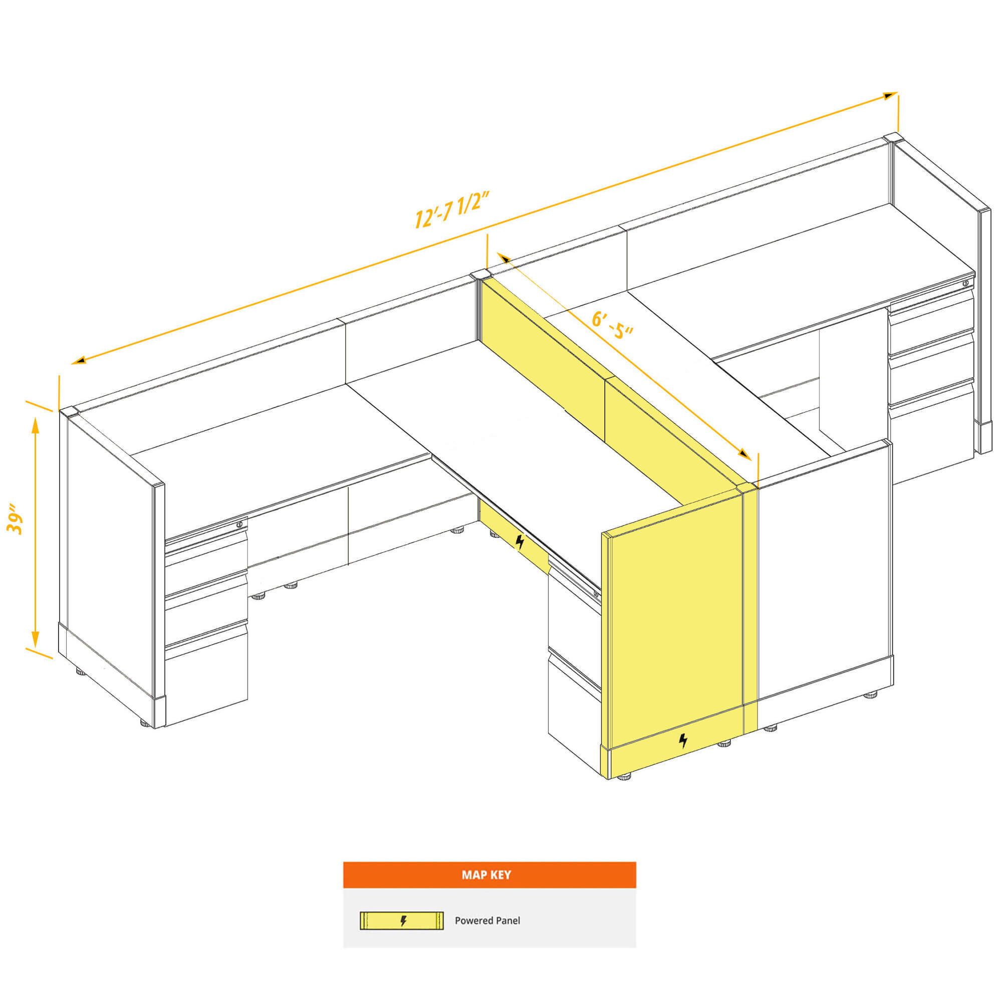 Modular furniture CUB 2a 39 P 66 PSO