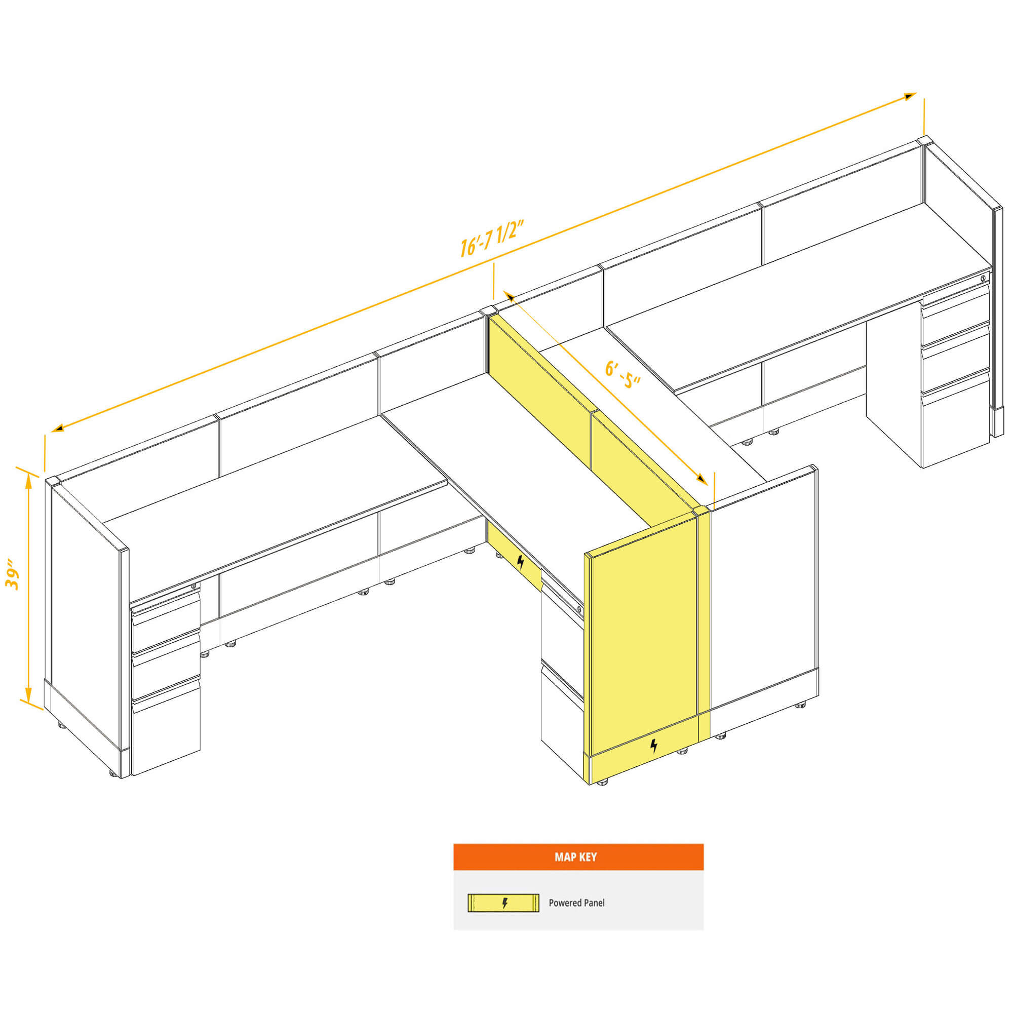 Modular furniture CUB 2a 39 P 68 PSO