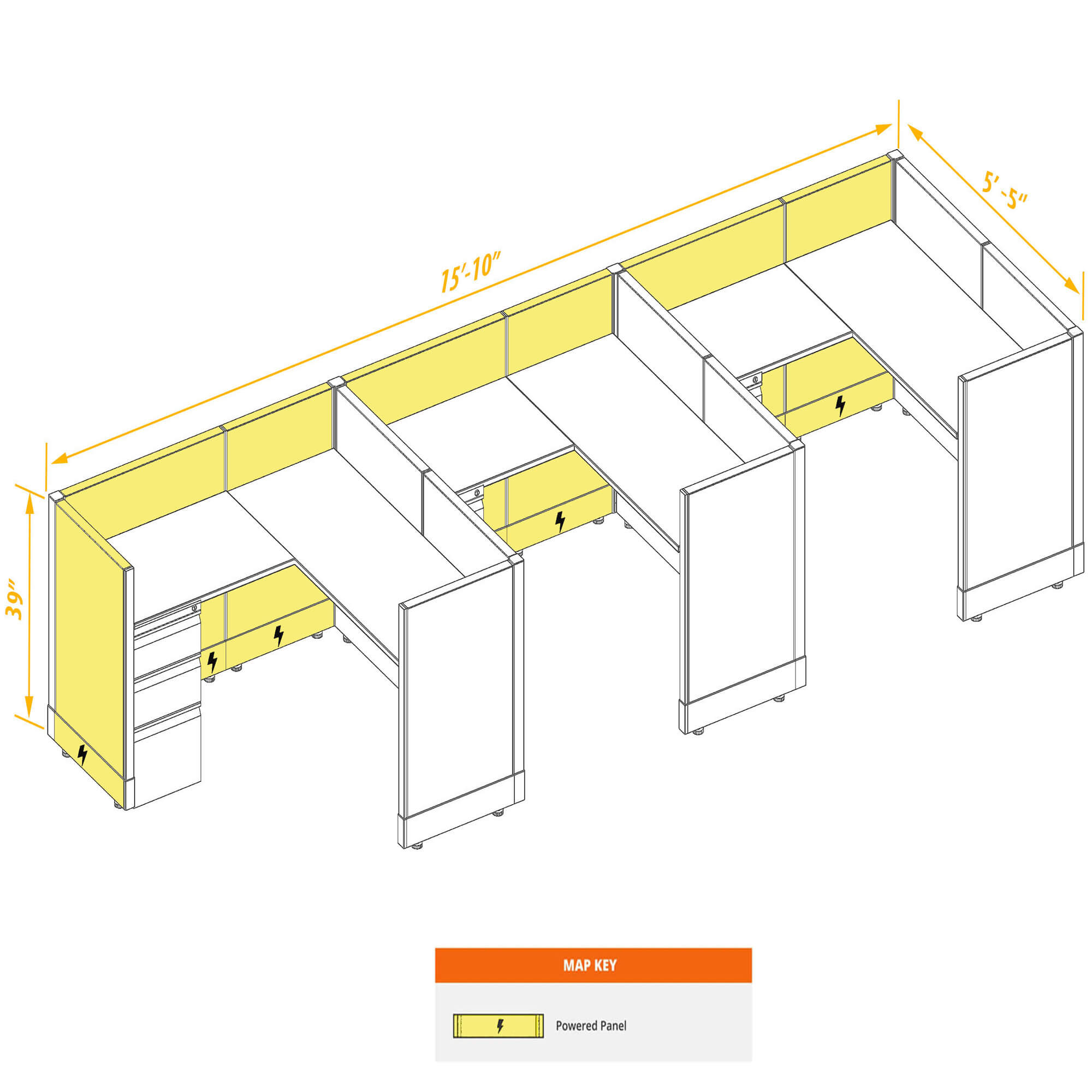 Modular furniture CUB 3 39 P 55 PSO