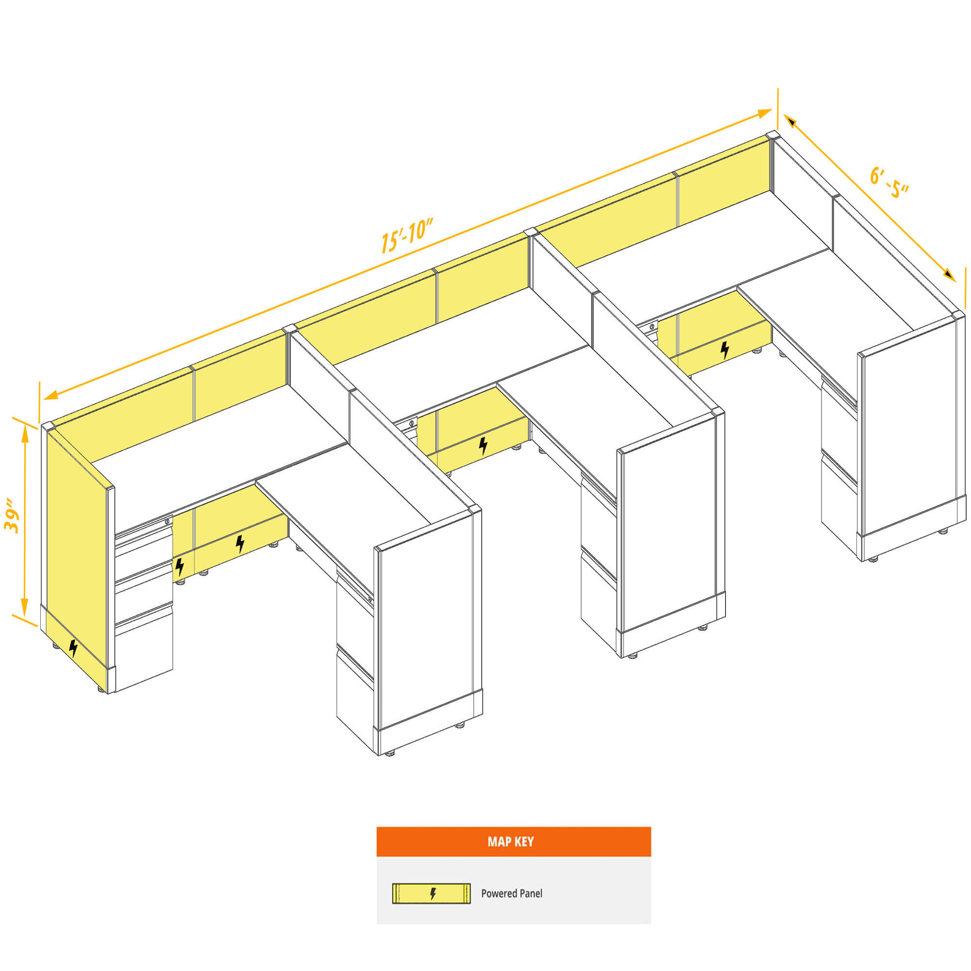 Modular furniture CUB 3 39 P 56 PSO