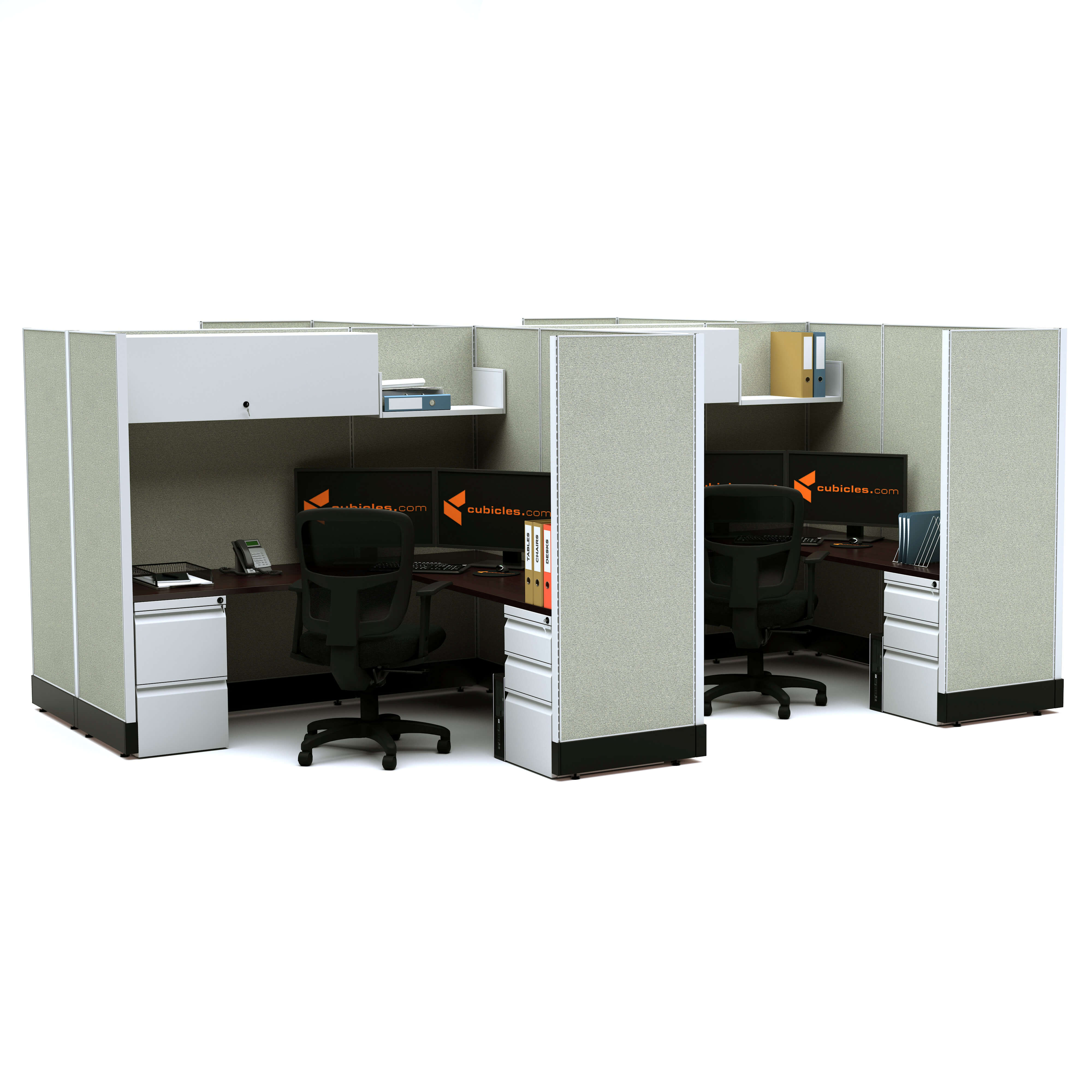 Modular office furniture modular office desk furniture 67 4pack clustered powered