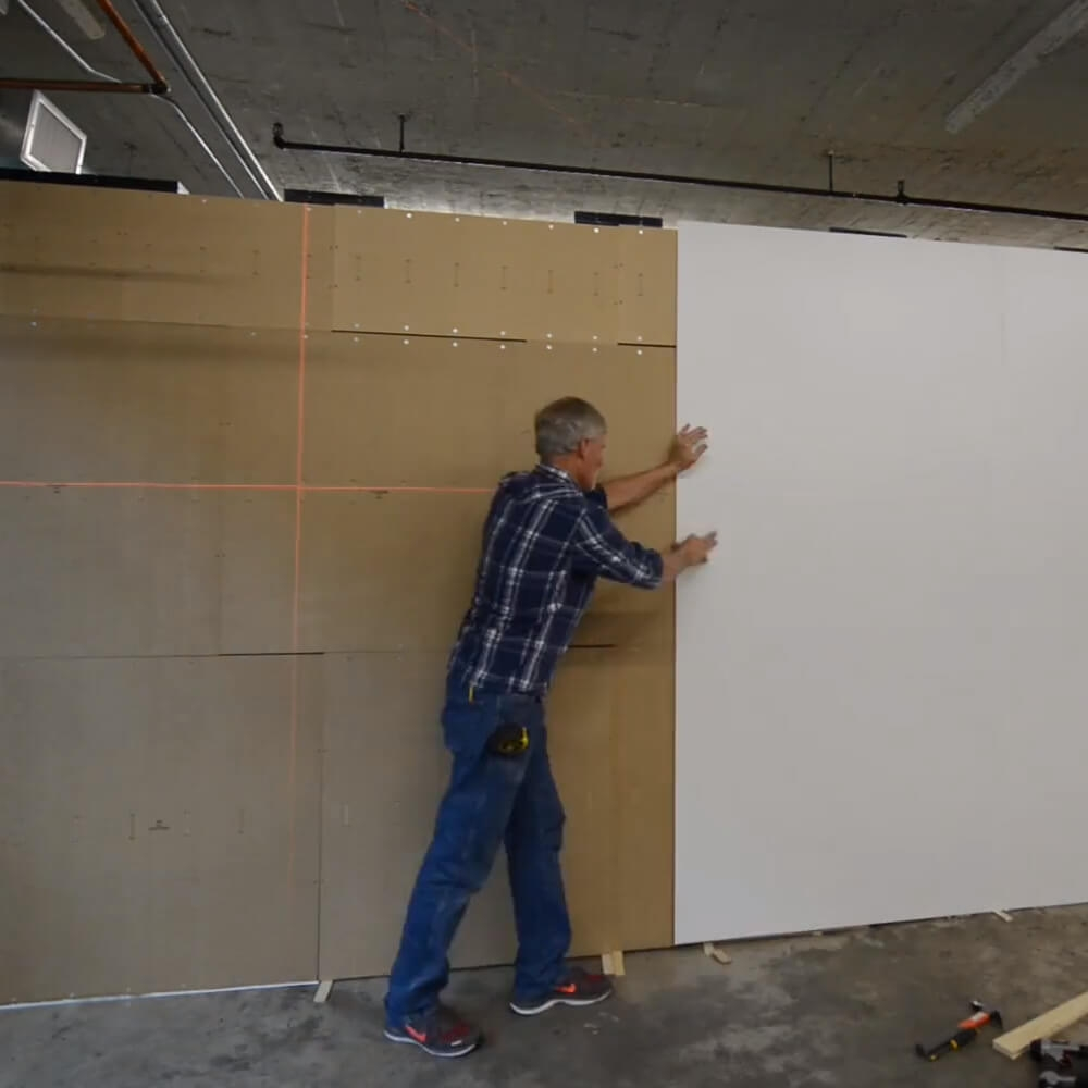 Modular walls white paintable skin 1