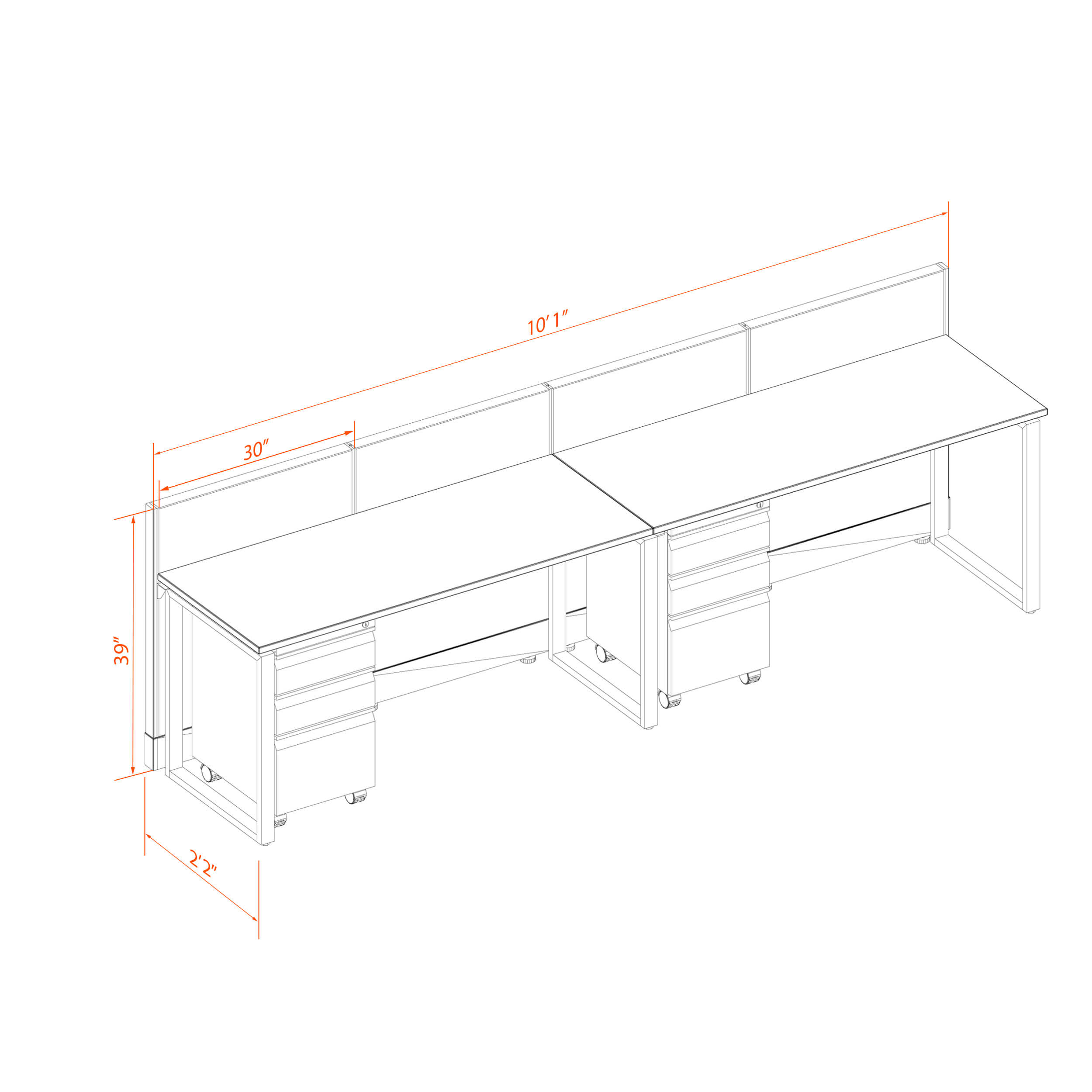 Office benching systems 2p 5239