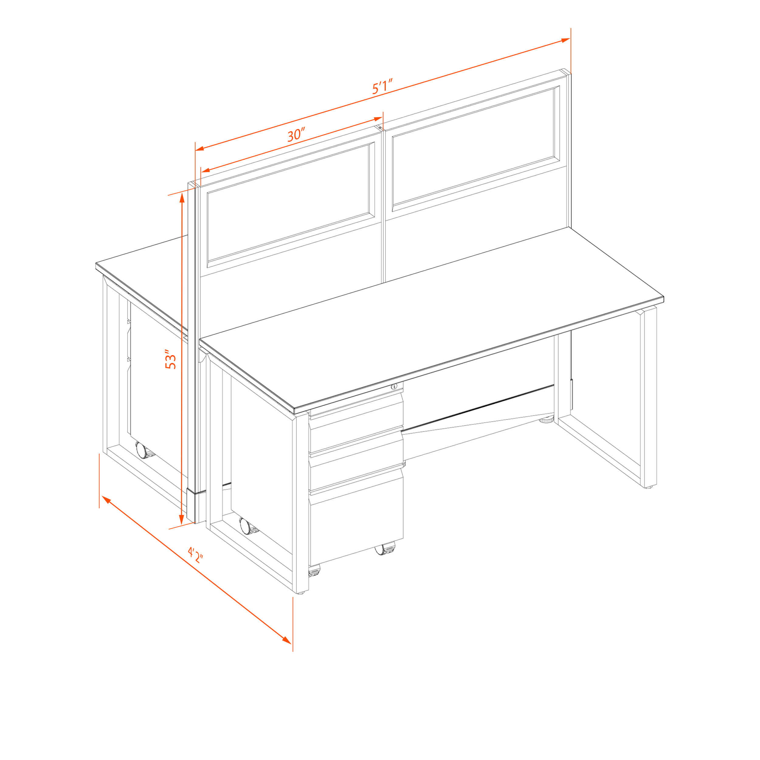 Office benching systems 52 1 2 3