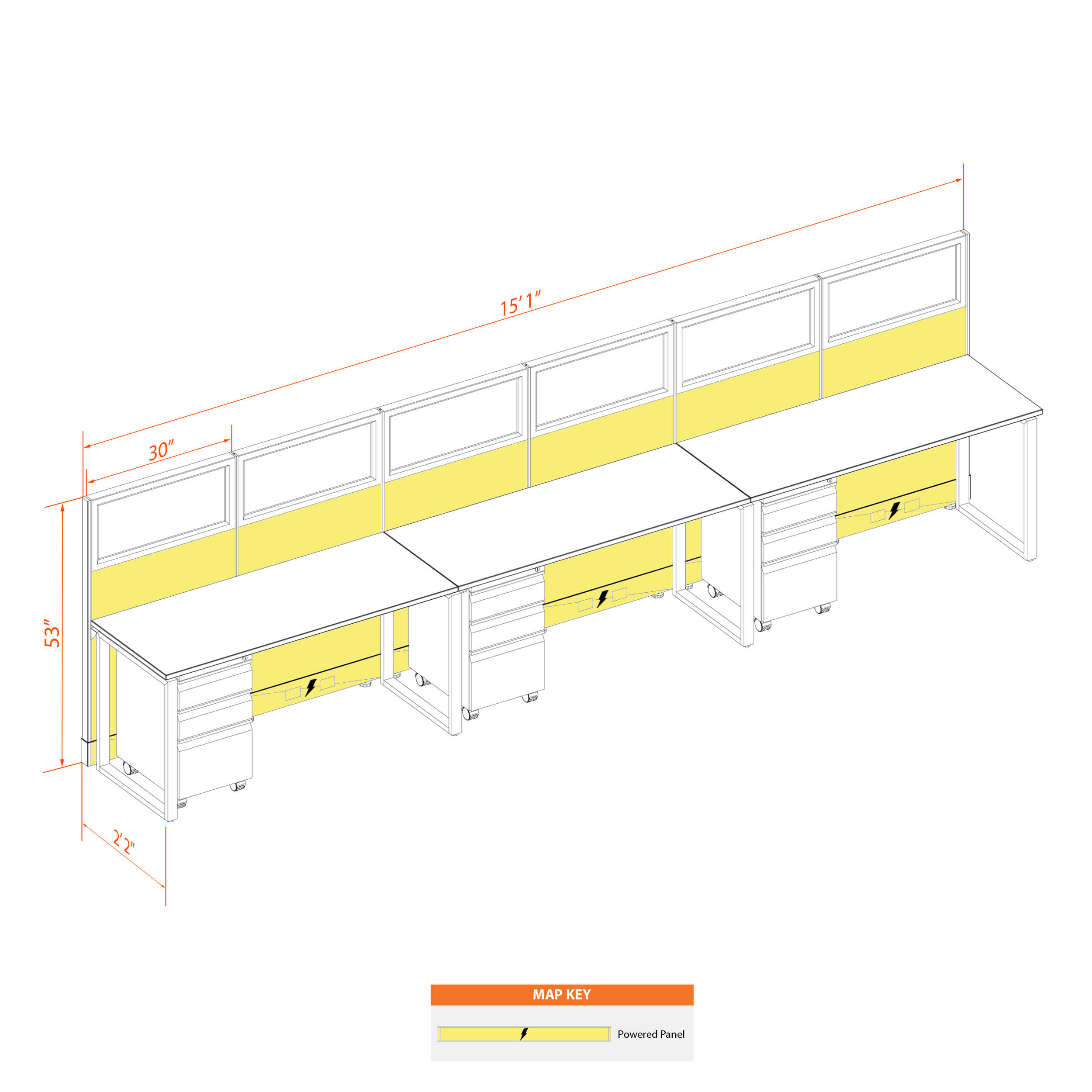 Office benching systems 52 3 53gp