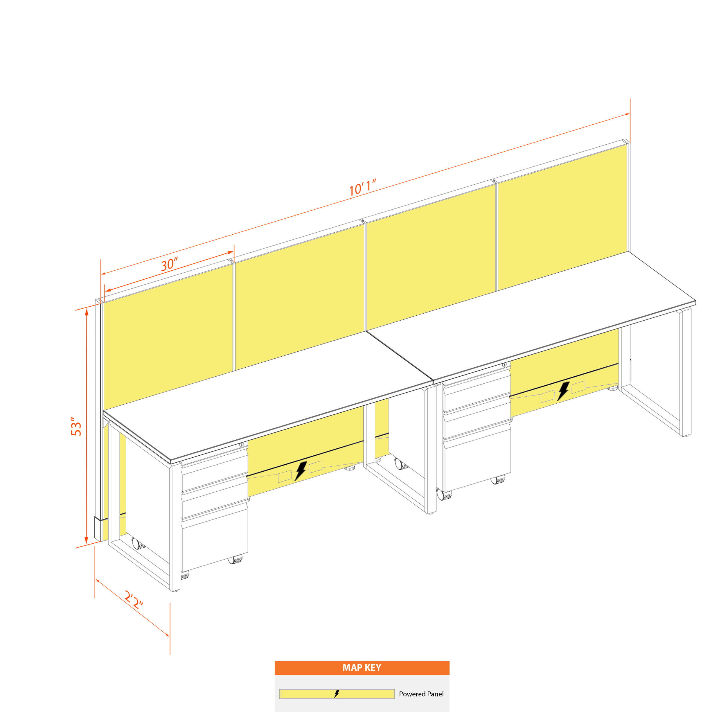 Office benching systems 52