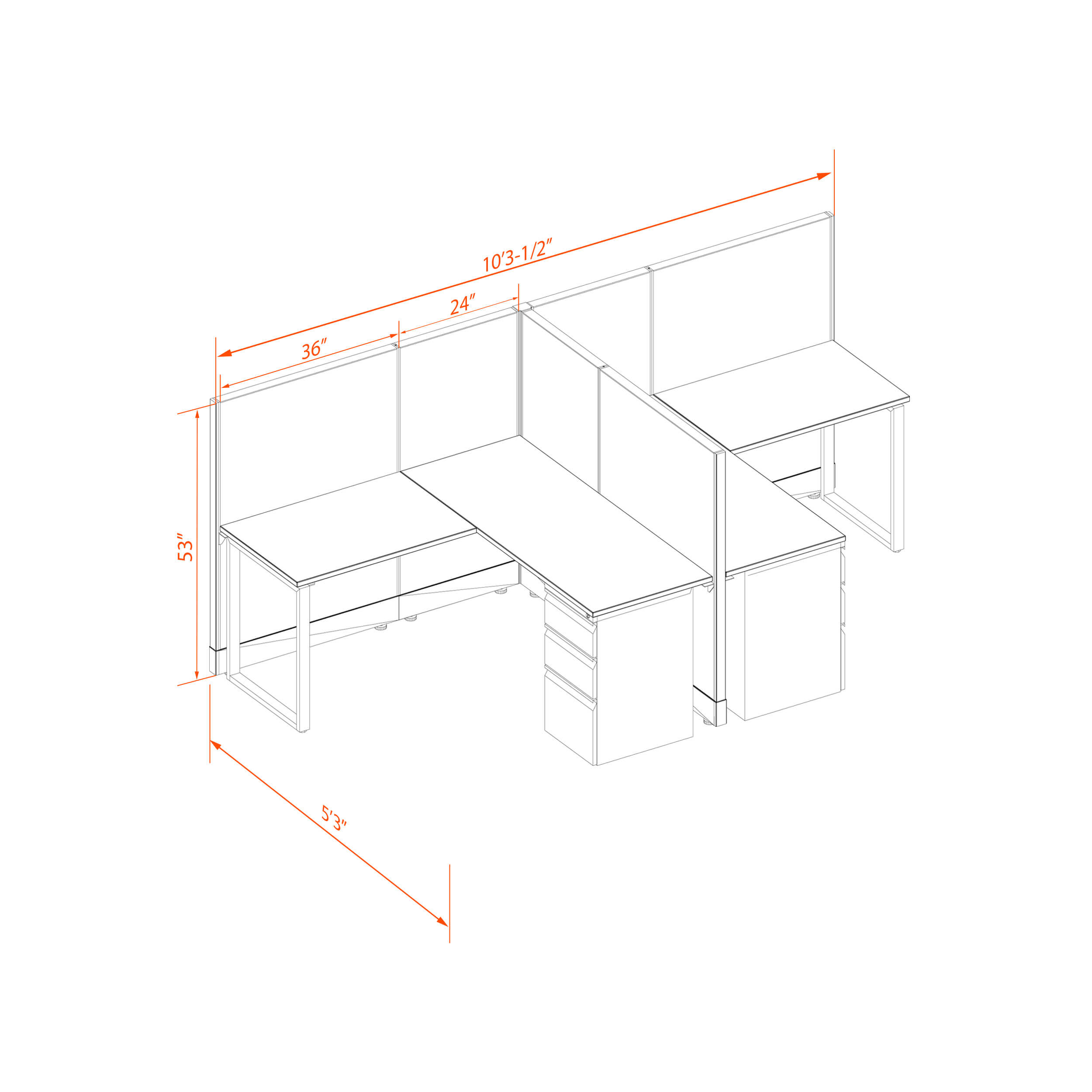 Office benching systems 55 53 t