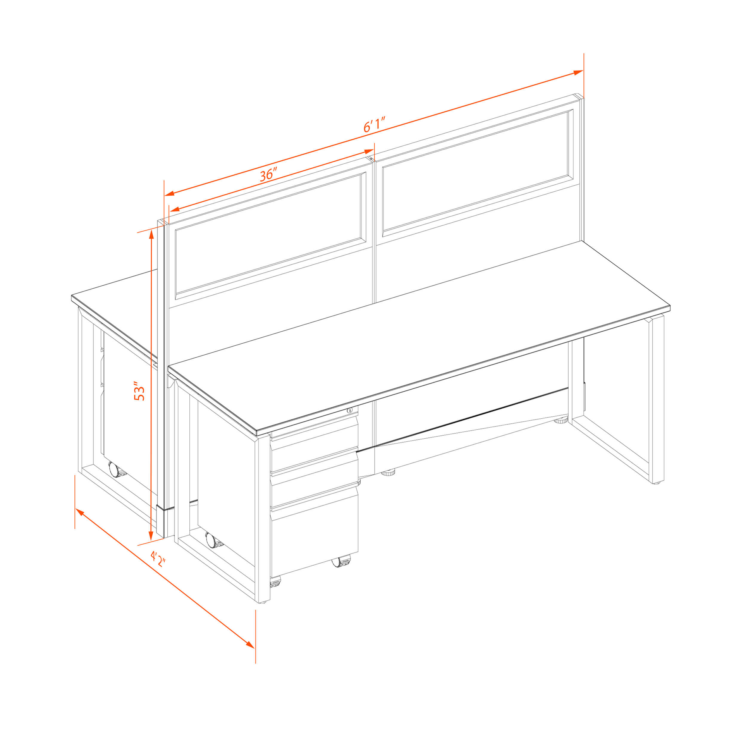 Office benching systems 62 1 2 3