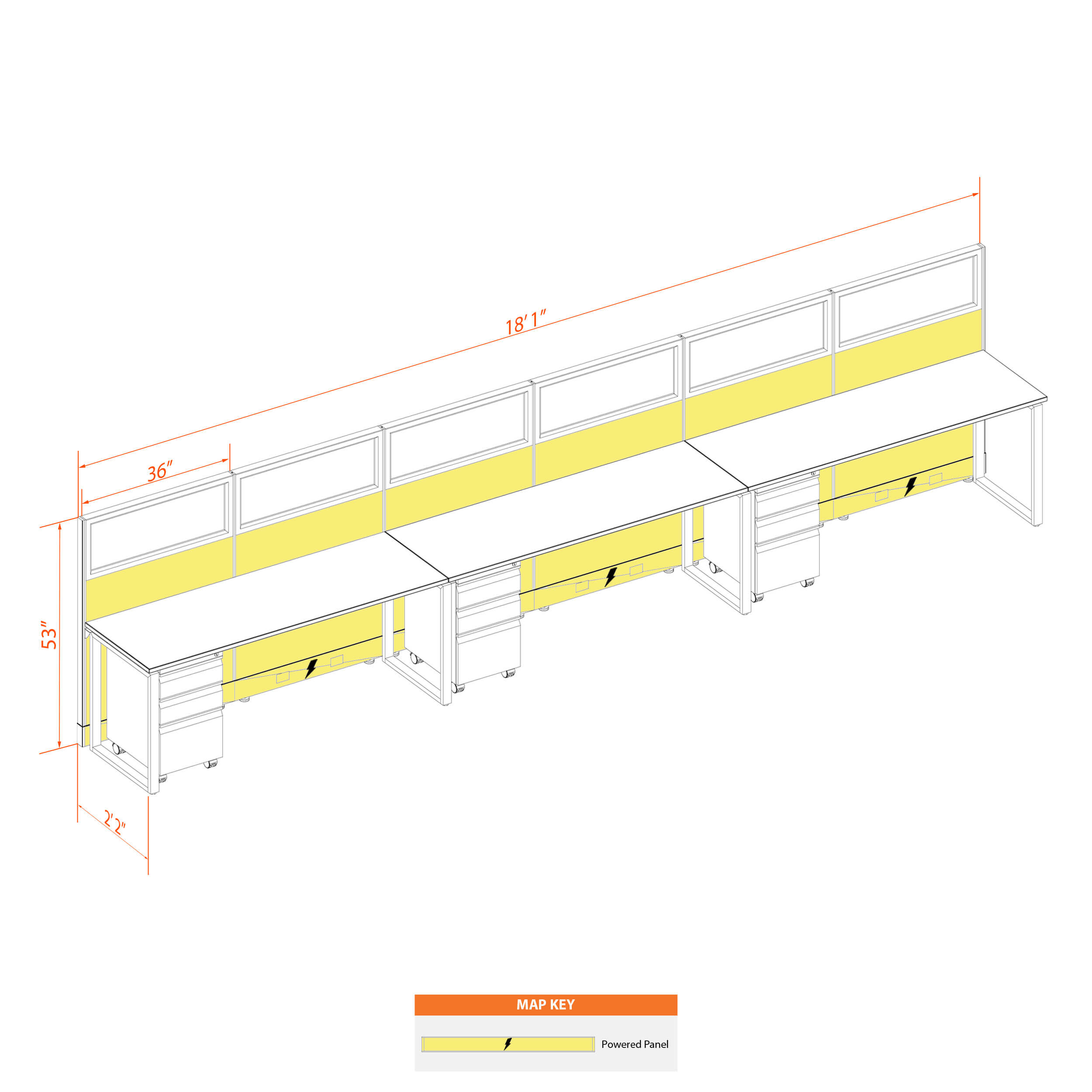 Office benching systems 62 3 53gp