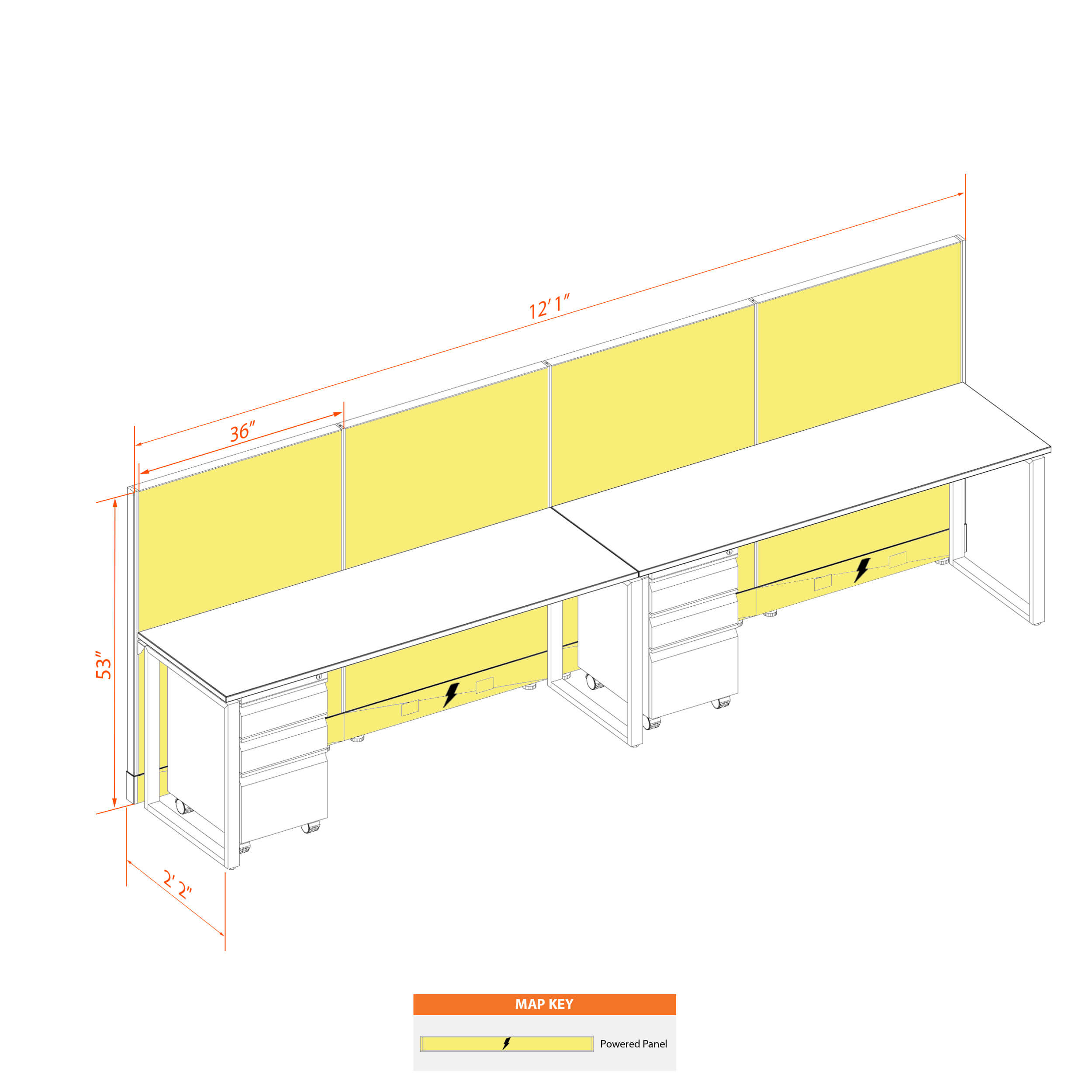 Office benching systems 62