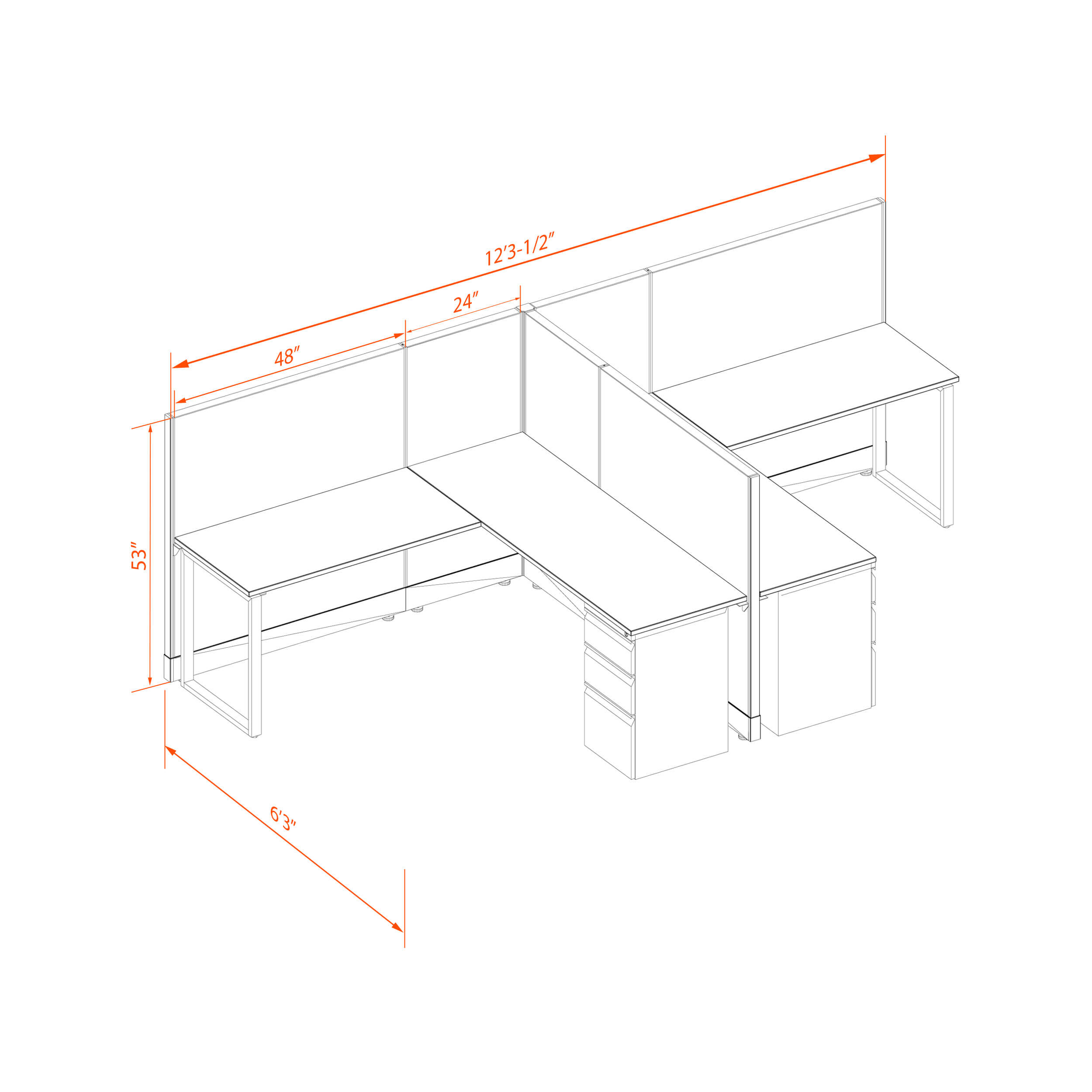 Office benching systems 66 53 t