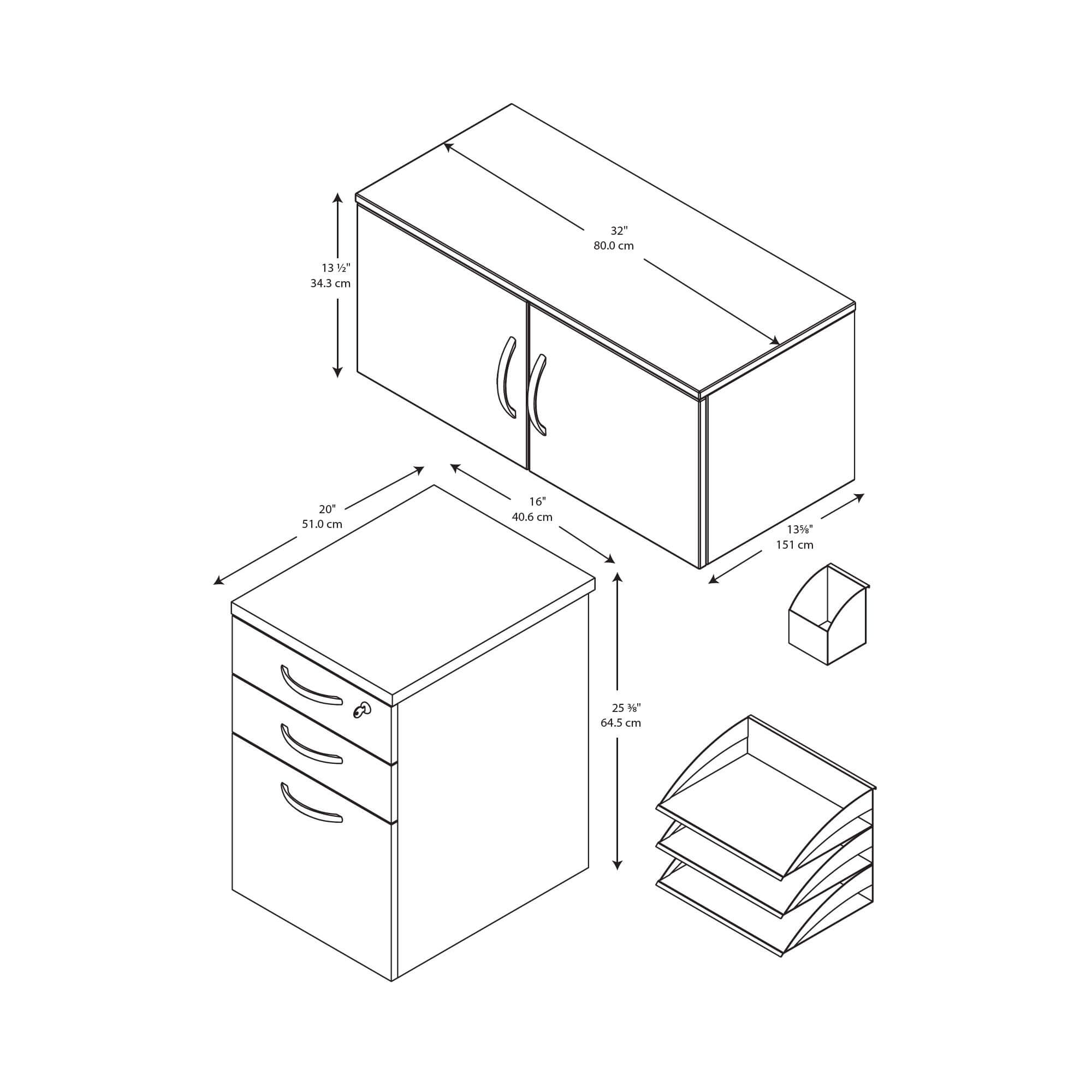 Office cubical storage drawing