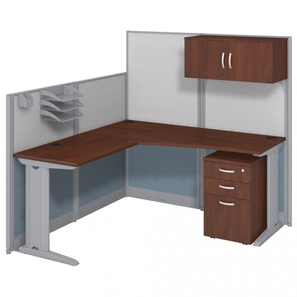 4 Pack L Shaped Cubical Workstation With Storage