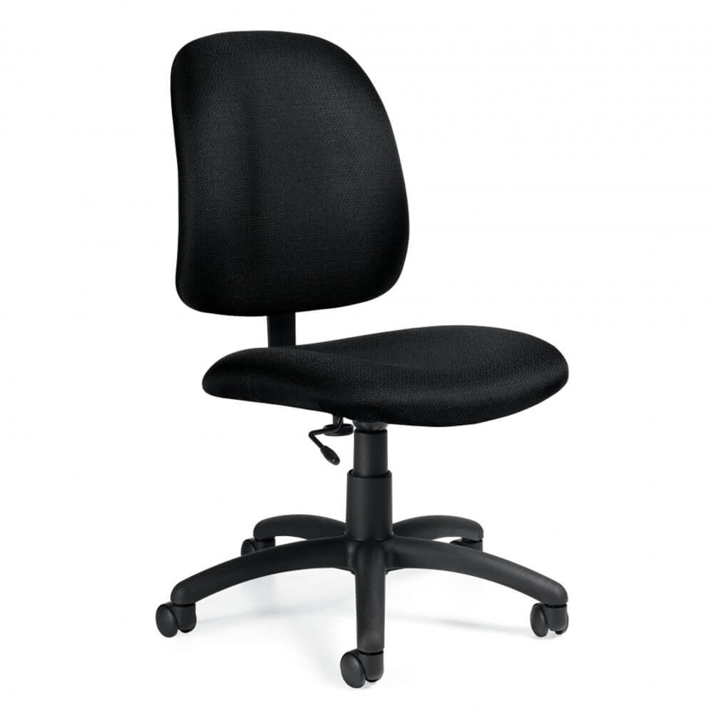 goal task armless office chairs 87718