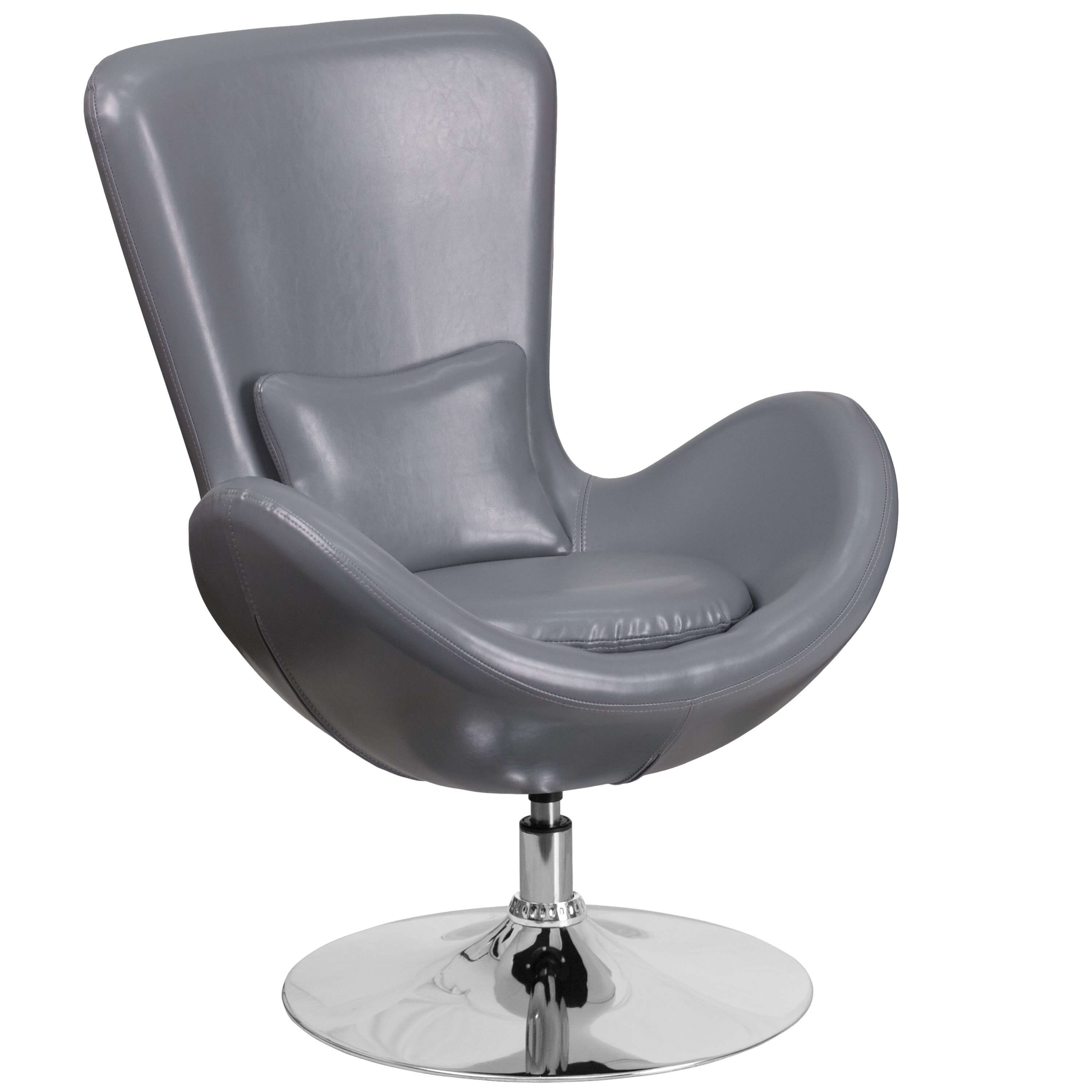 Office lounge chairs CUB CH 162430 GY LEA GG FLA