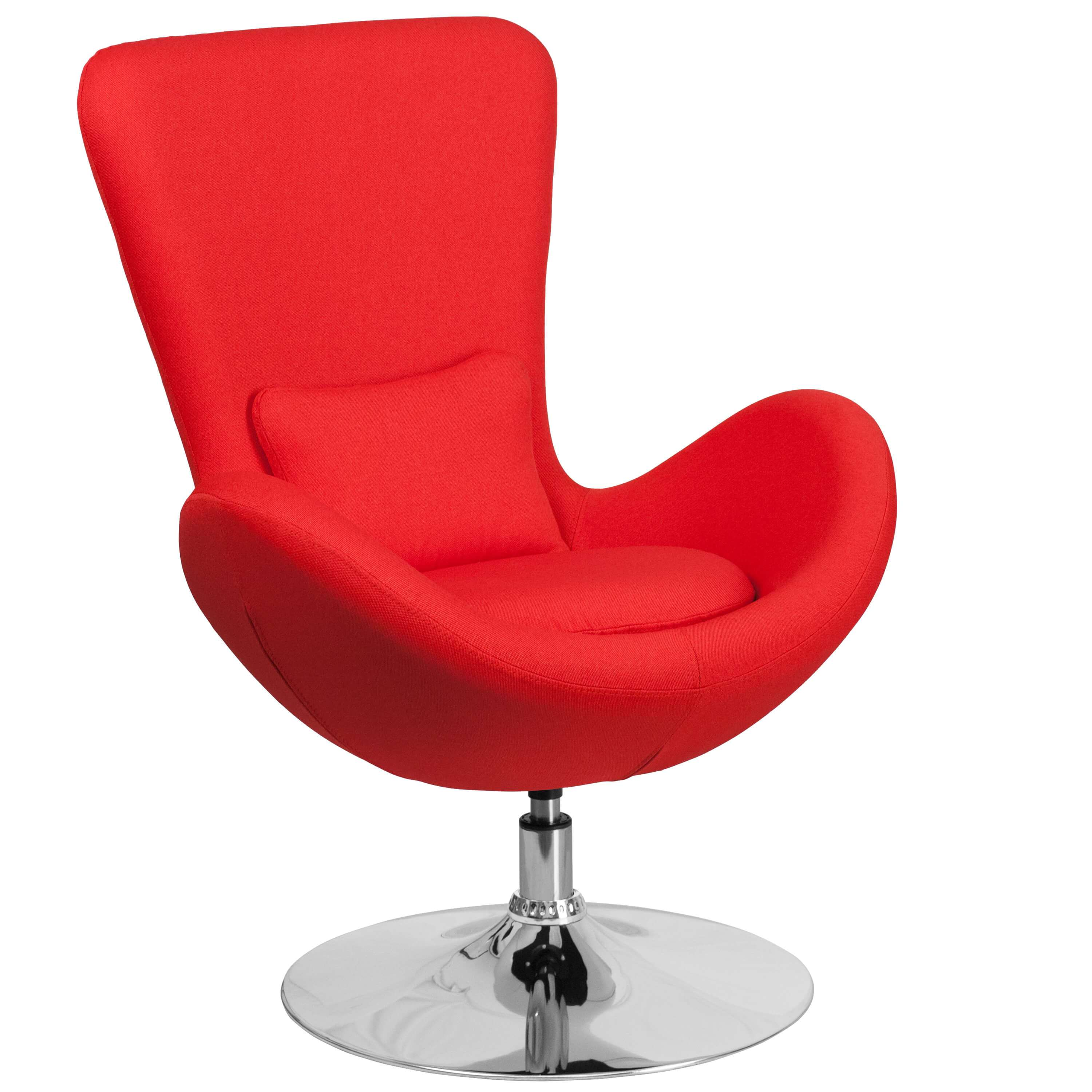 Office lounge chairs CUB CH 162430 RED FAB GG FLA