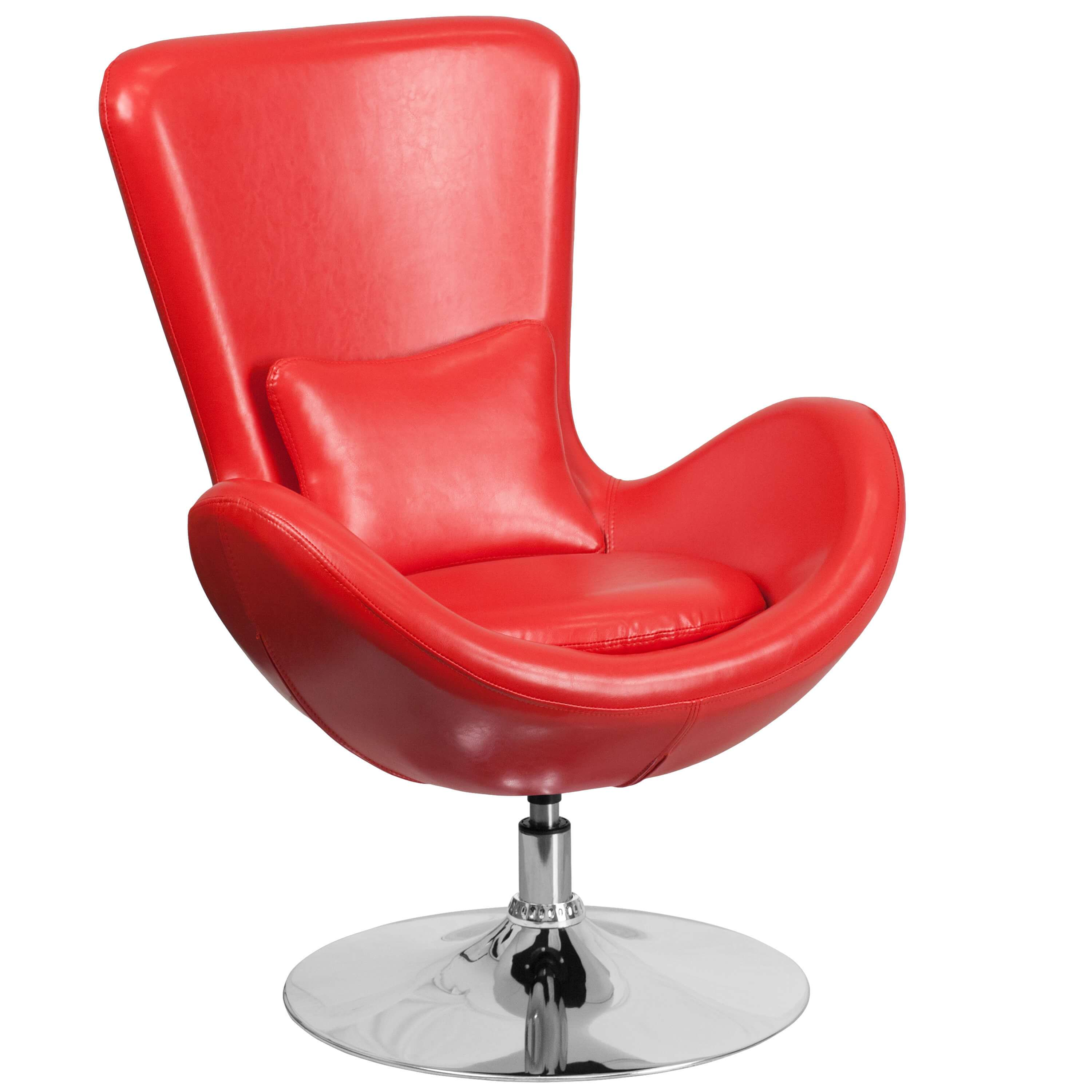 Office lounge chairs CUB CH 162430 RED LEA GG FLA