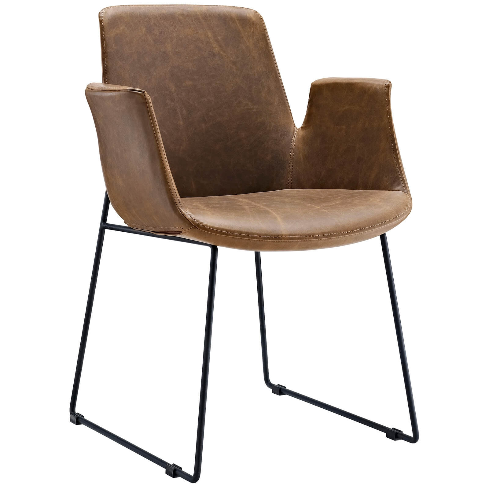Office lounge chairs CUB EEI 1806 BRN DOM