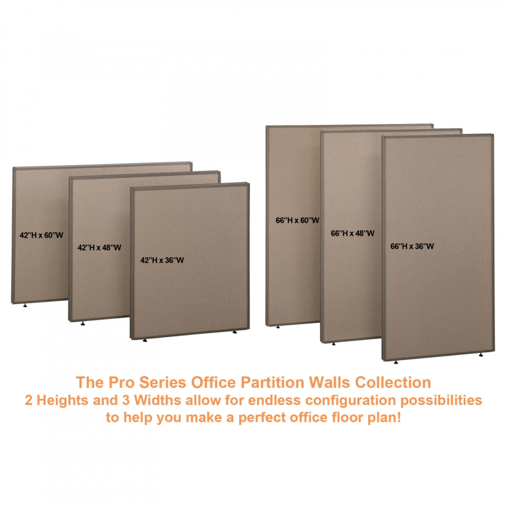 Office partition walls panel trio tan