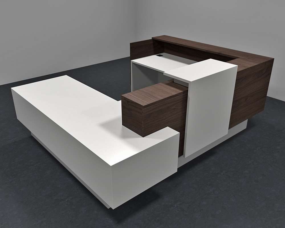 Modern Office Desk: Announce Modern Office Reception Desk