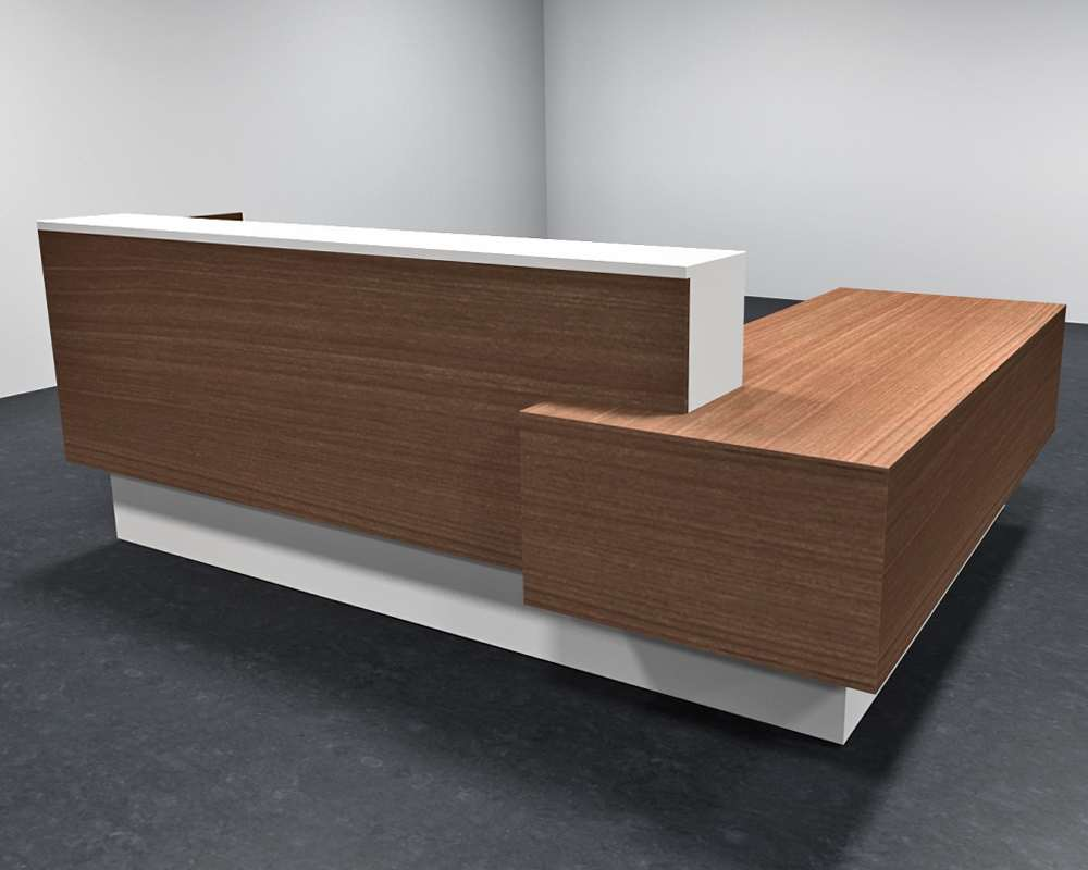 Modern Office Desk: Enchant Modern Reception Counter