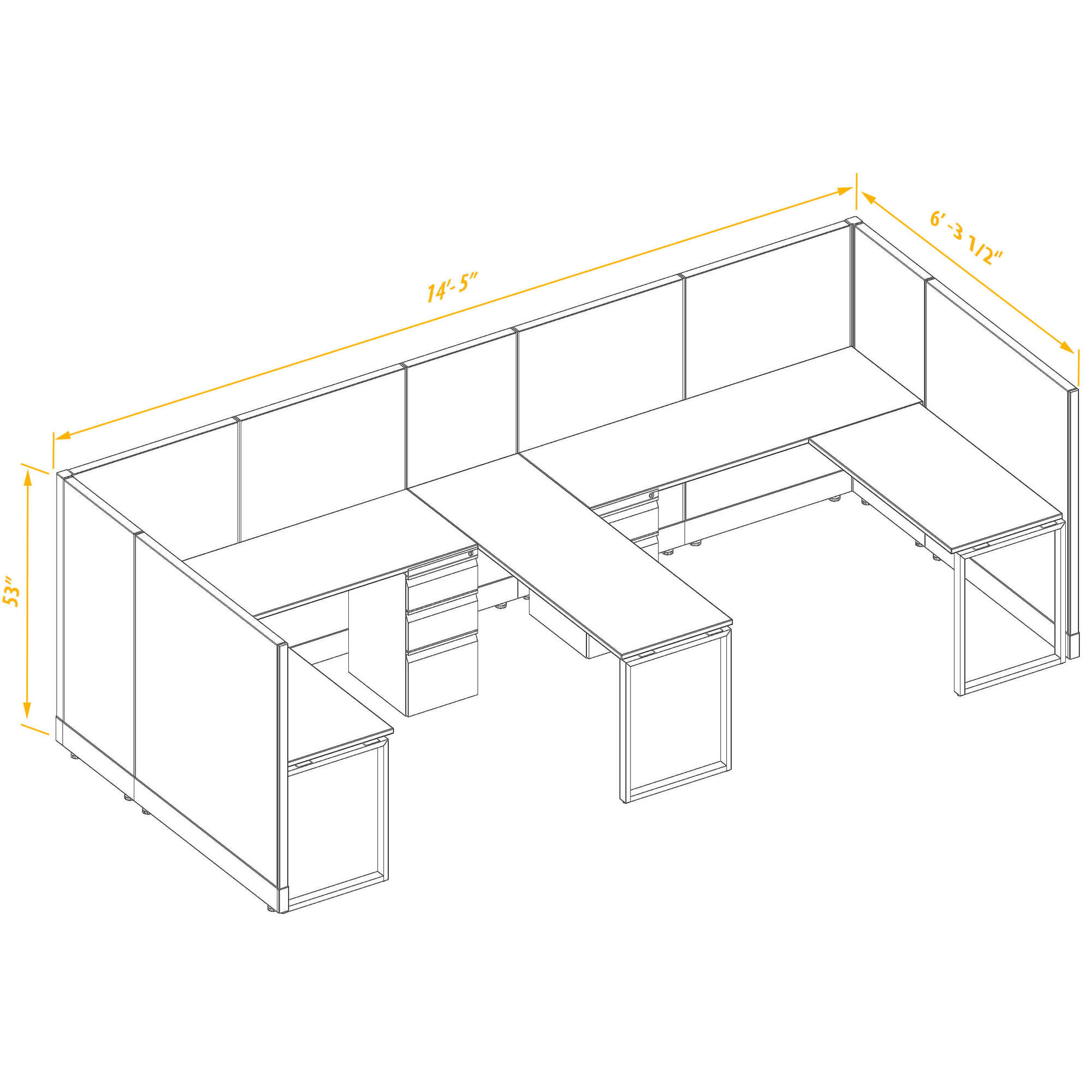 Office workstations CUB 2 53 66 BP PSO
