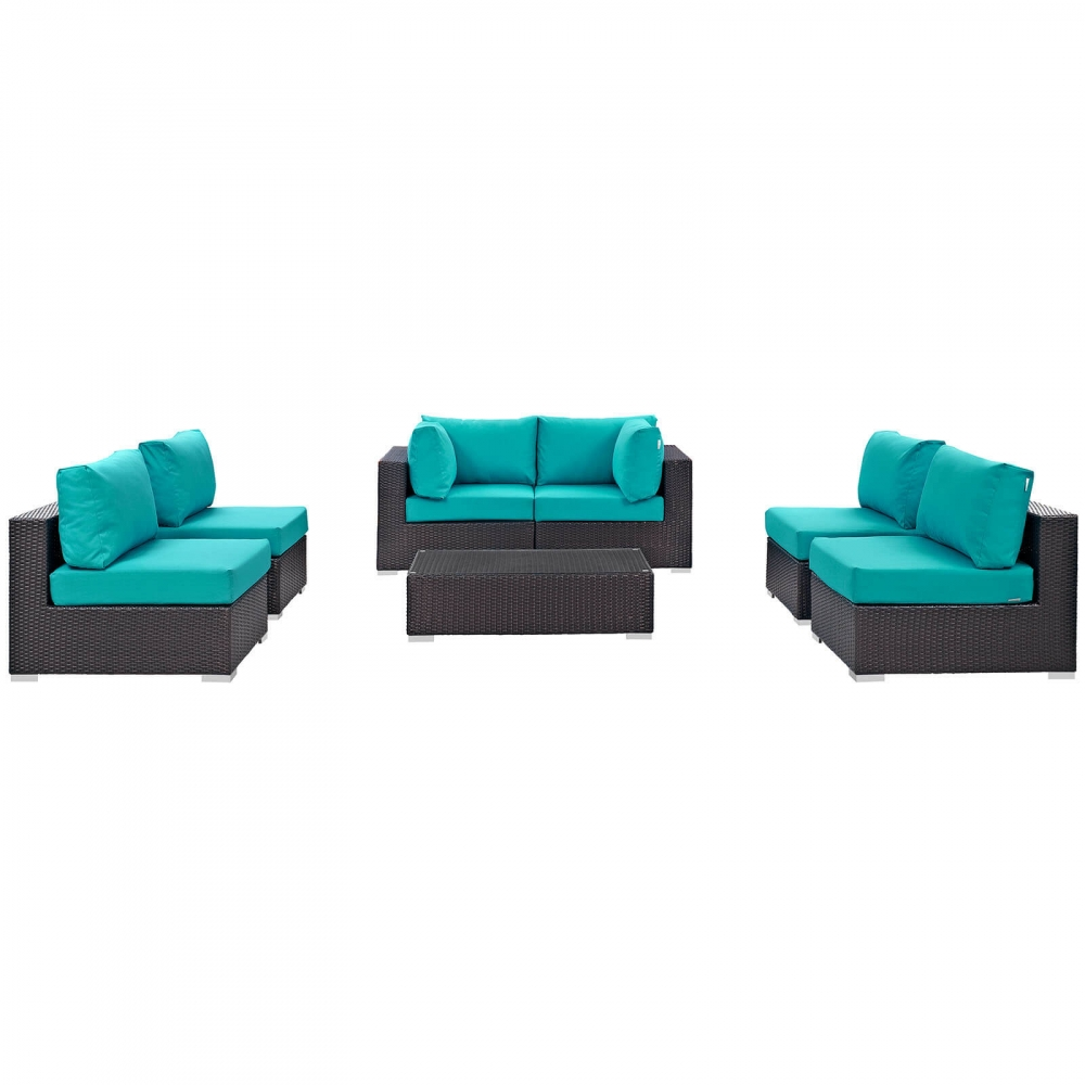Outdoor lounge furniture CUB EEI 2164 EXP TRQ SET MOD