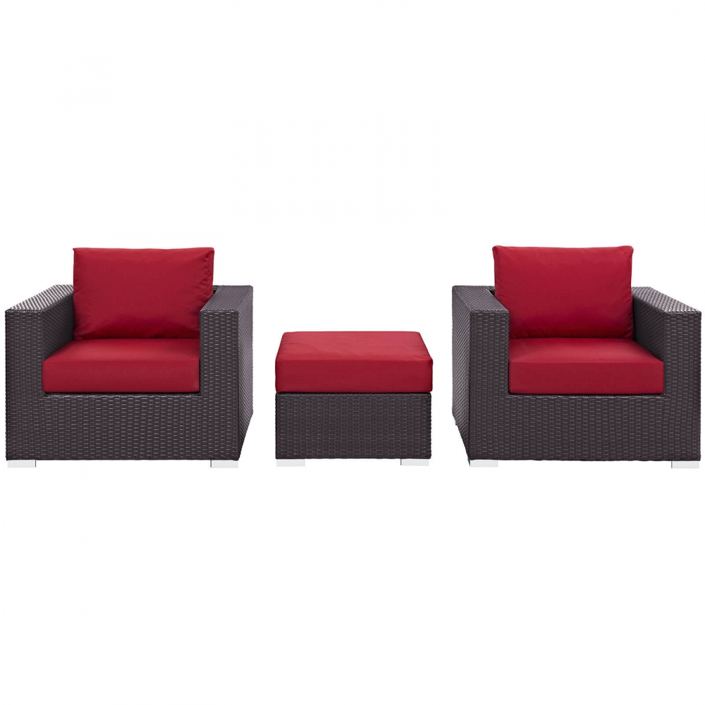 Outdoor lounge furniture CUB EEI 2174 EXP RED SET MOD