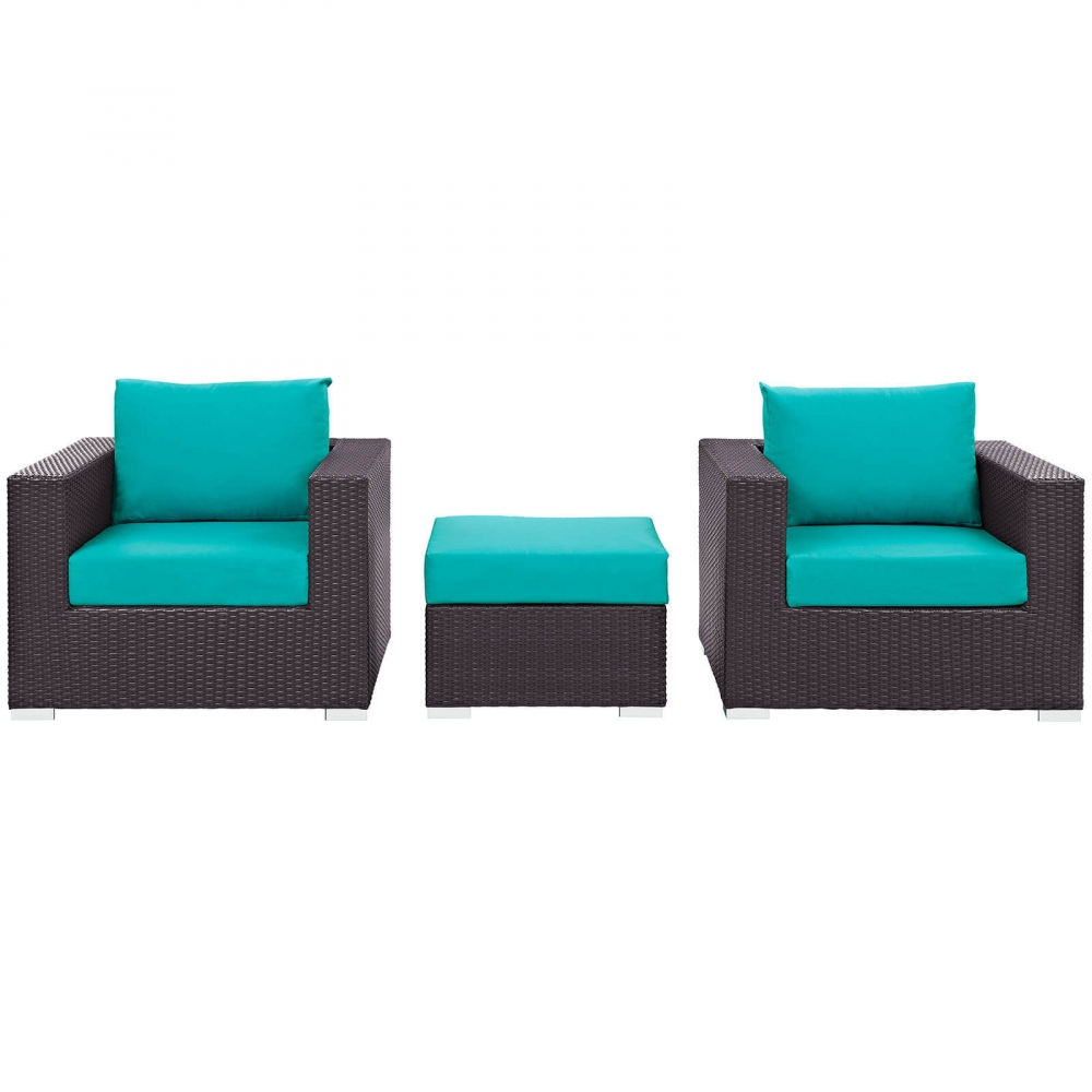 Outdoor lounge furniture CUB EEI 2174 EXP TRQ SET MOD