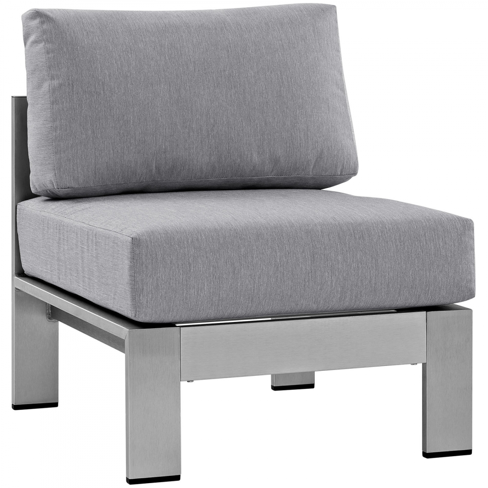 Outdoor lounge furniture CUB EEI 2263 SLV GRY MOD