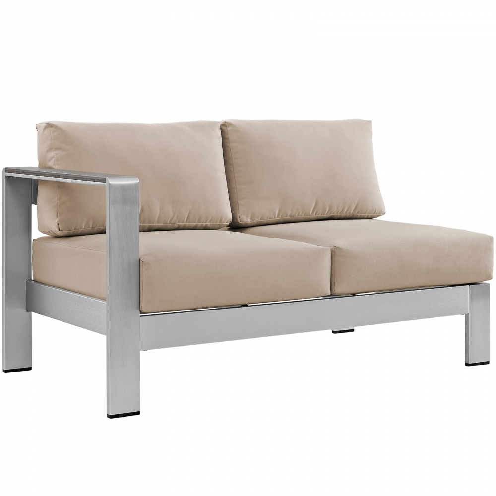 Outdoor lounge furniture CUB EEI 2265 SLV BEI MOD