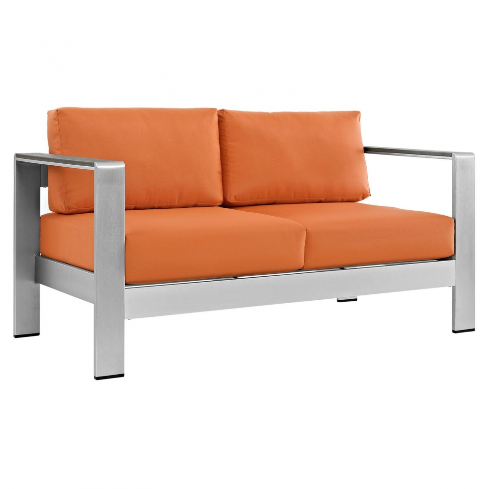 Outdoor lounge furniture CUB EEI 2267 SLV ORA MOD