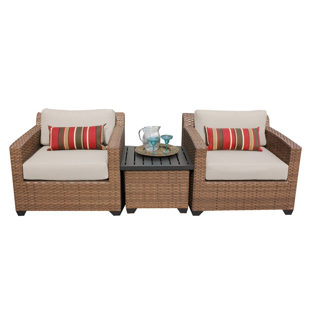 Outdoor lounge furniture CUB LAGUNA 03a BEIGE TKC