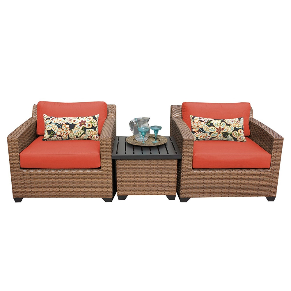 Outdoor lounge furniture CUB LAGUNA 03a TANGERINE TKC