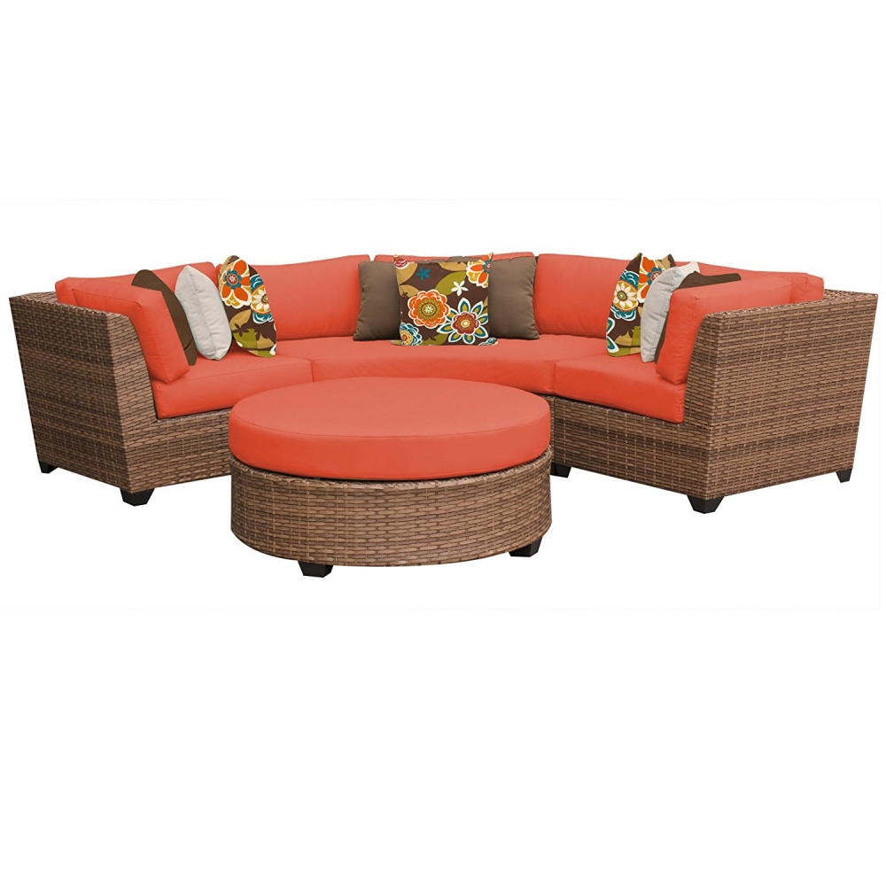 Outdoor lounge furniture CUB LAGUNA 04a TANGERINE TKC