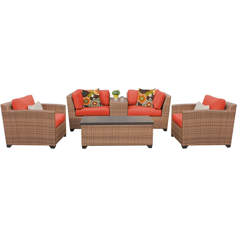 Outdoor lounge furniture CUB LAGUNA 06d TANGERINE TKC