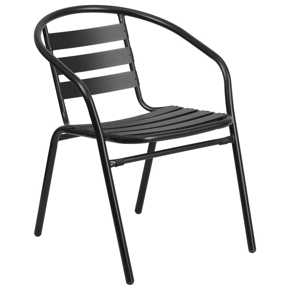Outdoor patio chairs CUB TLH 017C BK GG FLA