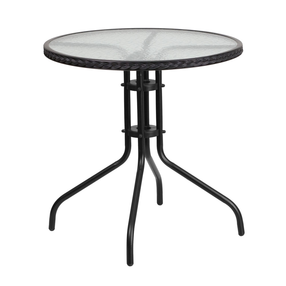 Outdoor patio table CUB TLH 087 BK GG FLA