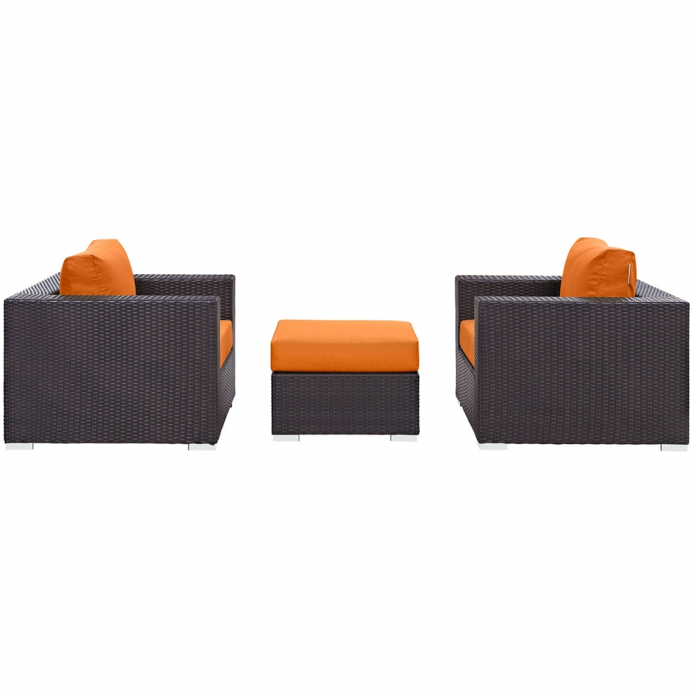 Outdoor sofa set side view