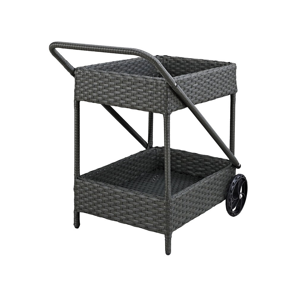 Patio beverage cart rear view