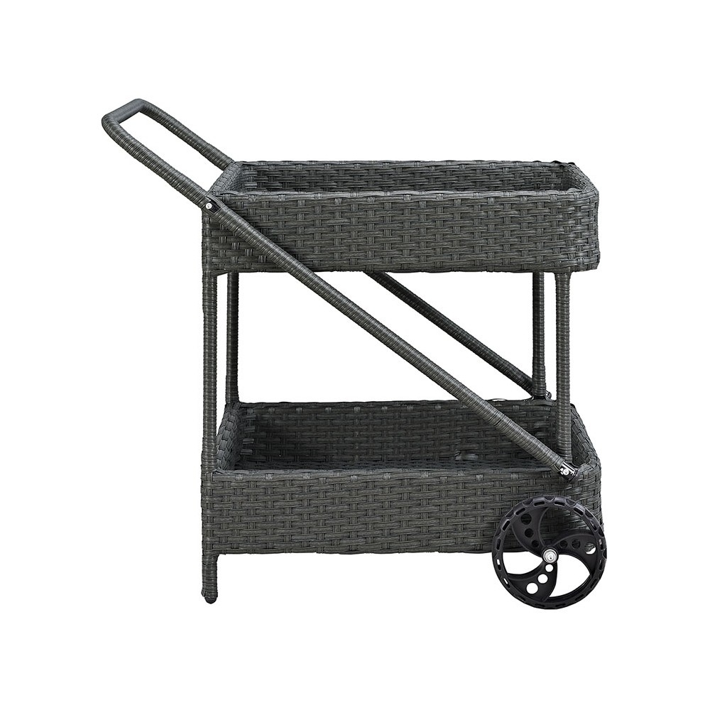 Patio beverage cart side view