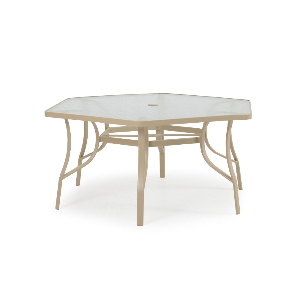 Naoma metal outdoor dining table for Metal patio table chairs