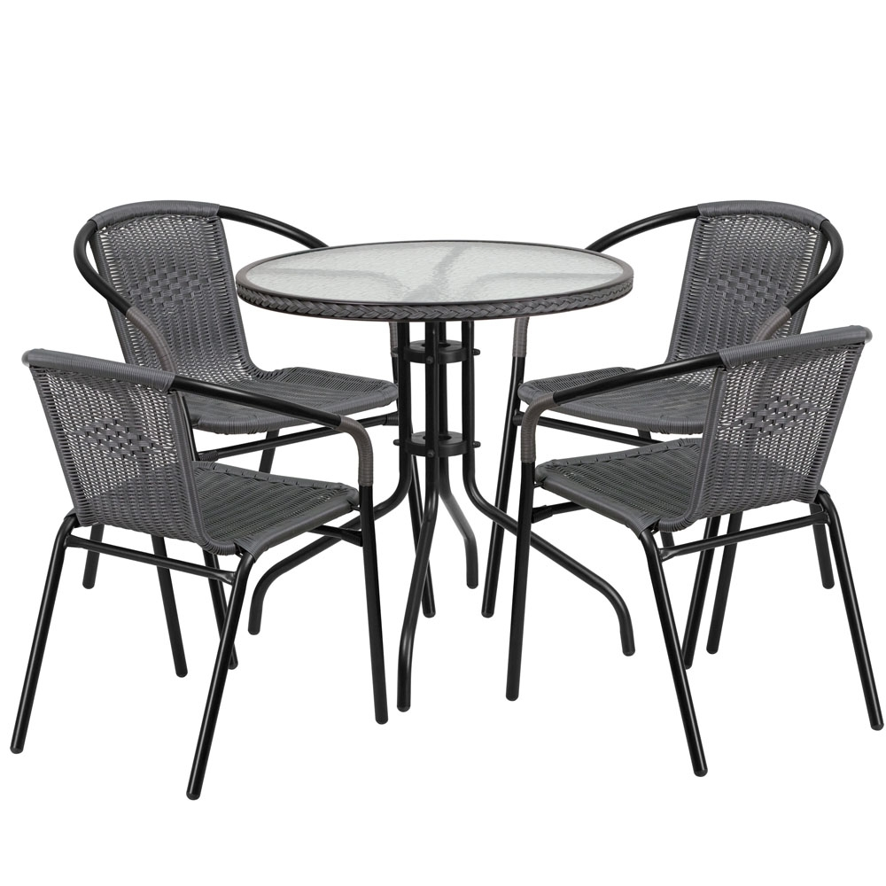 Monty 28 Inch Rattan Coffee Table Set