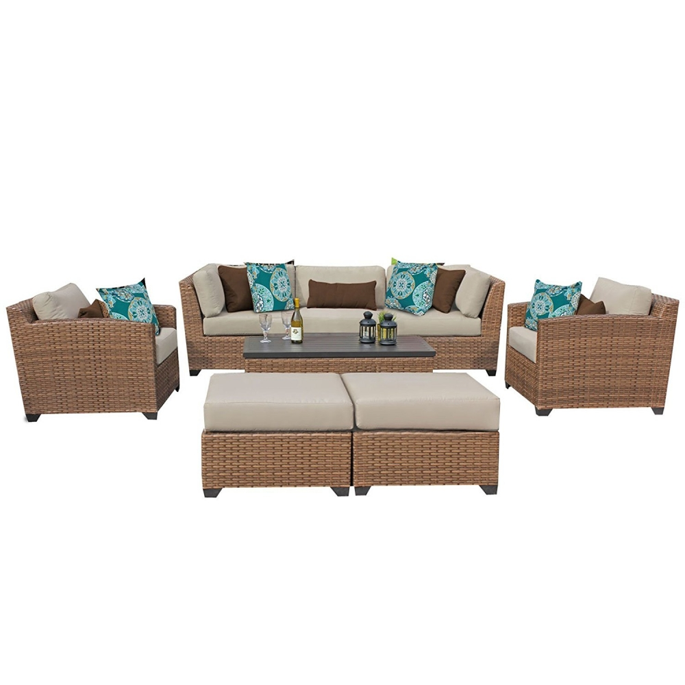 vicenza 8 piece rattan outdoor sofa set. Black Bedroom Furniture Sets. Home Design Ideas