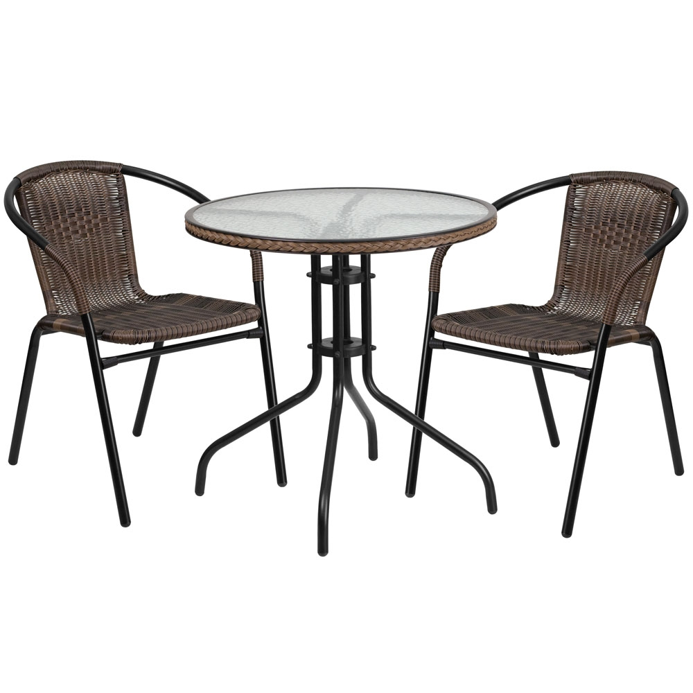 Brilliant Monty 28 Inch Rattan Table And Chairs Set Beutiful Home Inspiration Aditmahrainfo