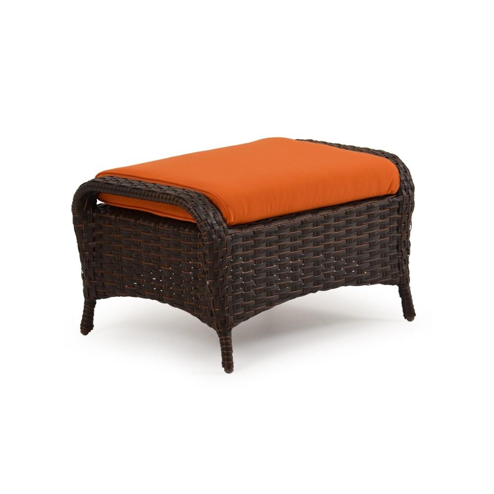 ludie wicker ottoman. Black Bedroom Furniture Sets. Home Design Ideas