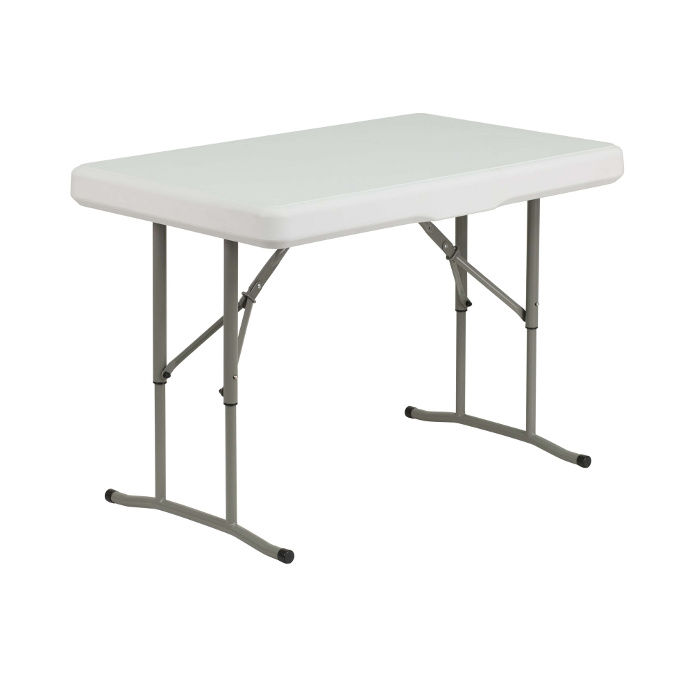 Plastic folding bench table front view