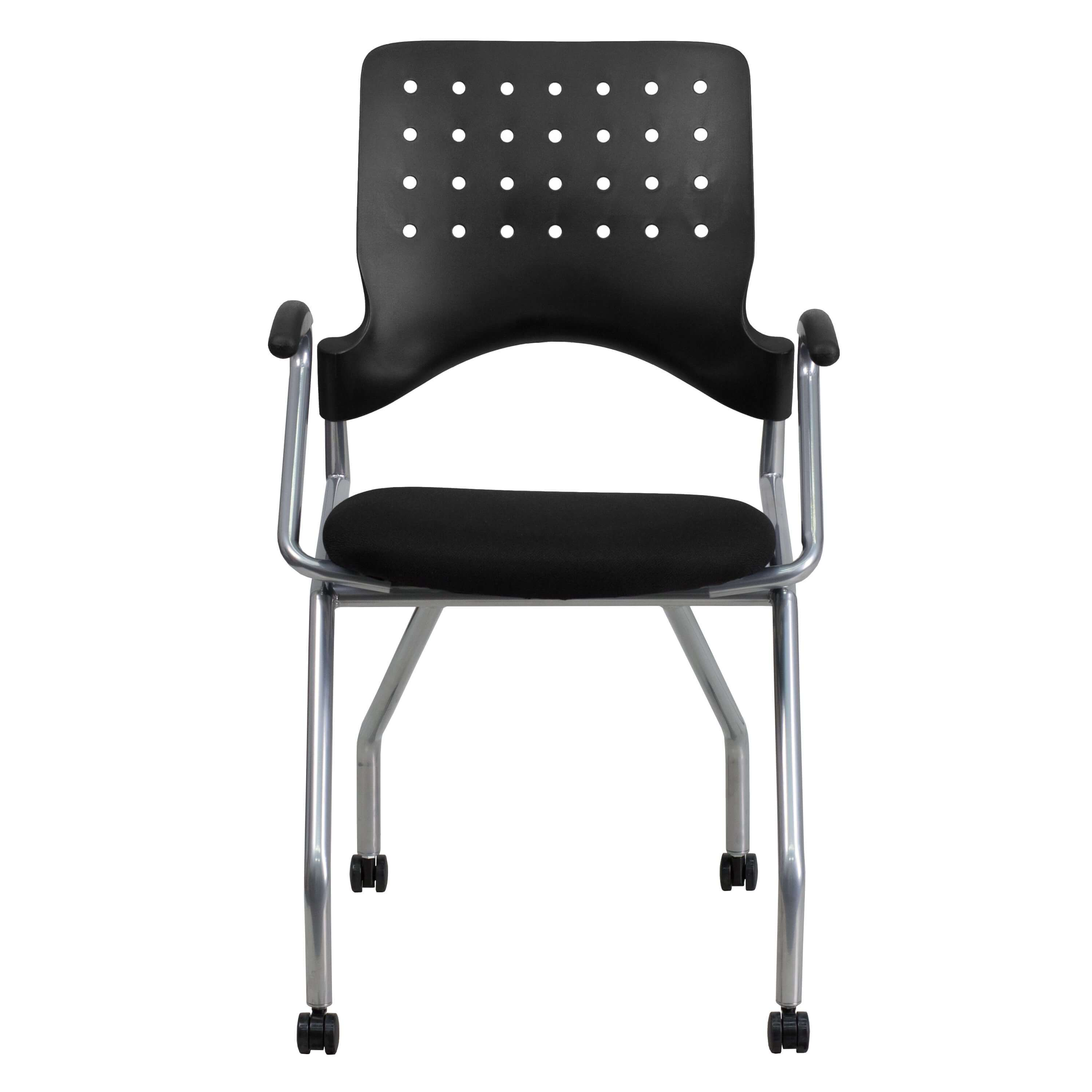 Plastic office chair front