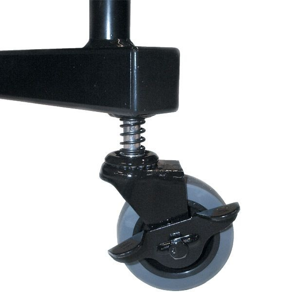 Portable partition wall corner casters