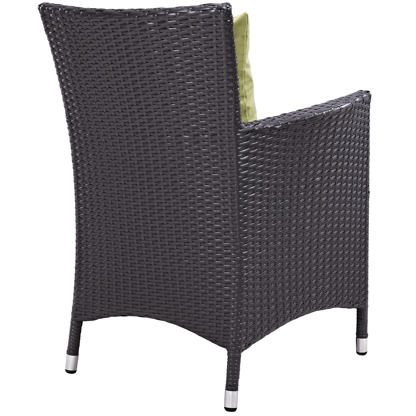 Rattan bistro chair back view